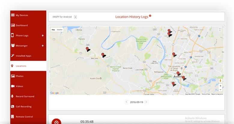 XNSPY phone track app