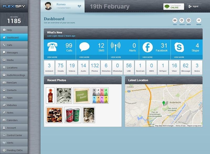 FlexiSPY phone track app