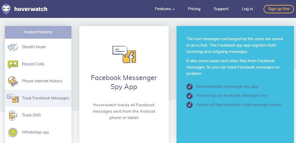 Hack Facebook Messenger with Hoverwatch