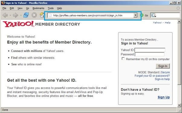 yahoo phishing attack