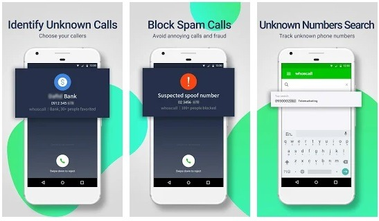 Whoscall  for blocking phone numbers