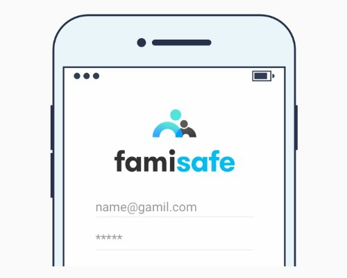 log-in to  FamiSafe account