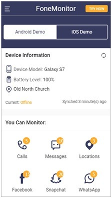 fonemonitor free android spy start monitoring
