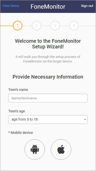 get a fonemonitor account 2