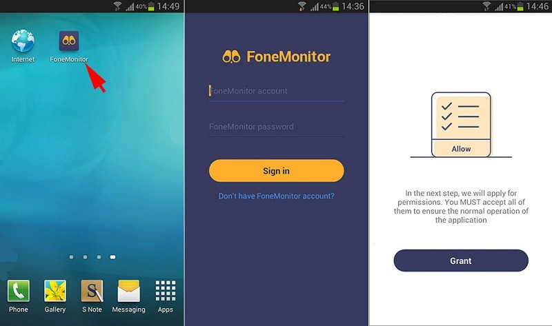 install the fonemonitor tracker 3