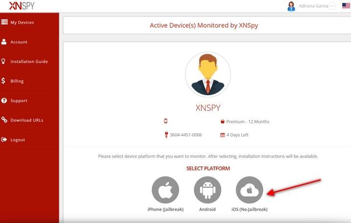 xnspy select the target device platform