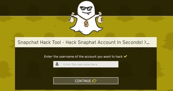 Snapchat hack tool