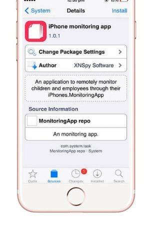 iPhone monitoring app install