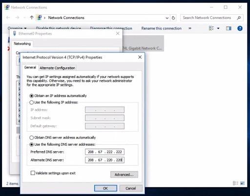 block porn using DNS for windows