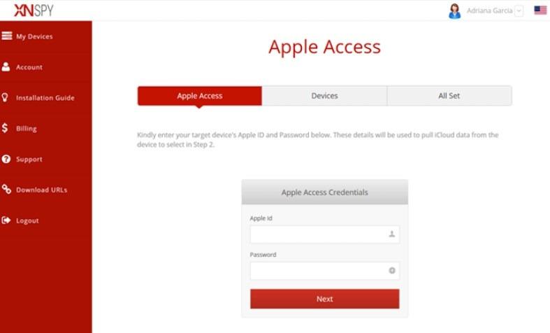 XNSPY for iPhone - Step 3
