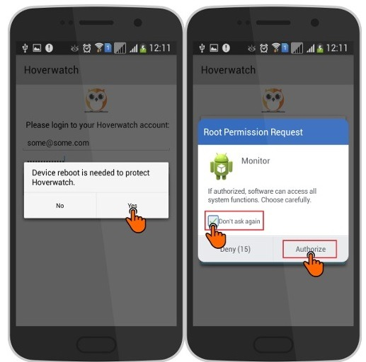 use hoverwatch to track an Android phone-4