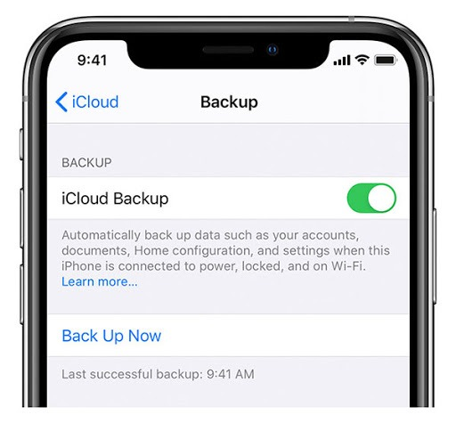 mSpy-Enable the iCloud Backup