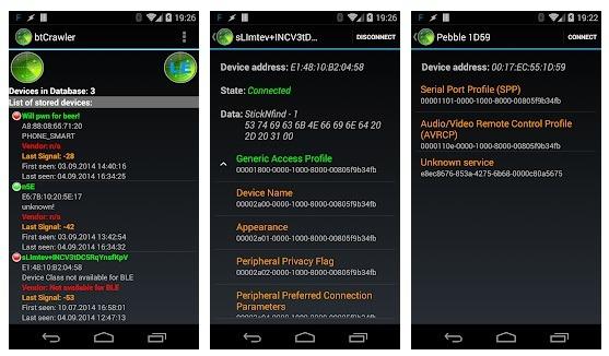 bluetooth hacking by Bluetooth Scanner – btCrawler