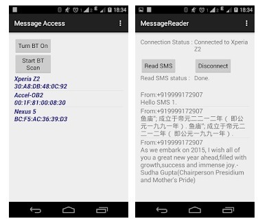 bluetooth hack with Bluetooth Read My SMS