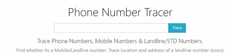 Phone Number Tracer