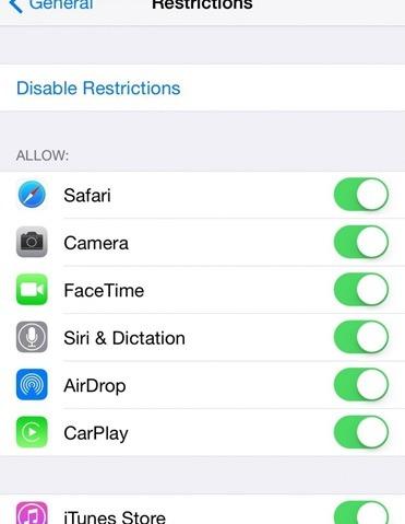 Safari-disable