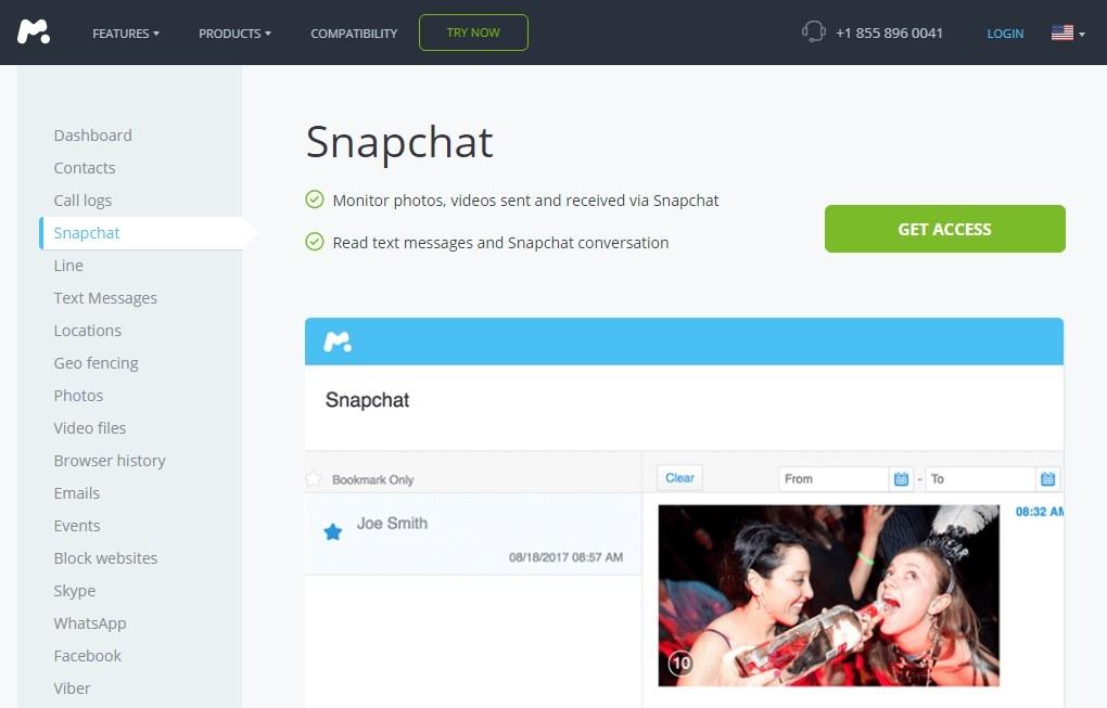 See Snapchat Conversation History  with mSpy 2