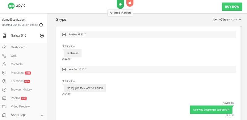 Hack Someone's Skype Account using Spyic