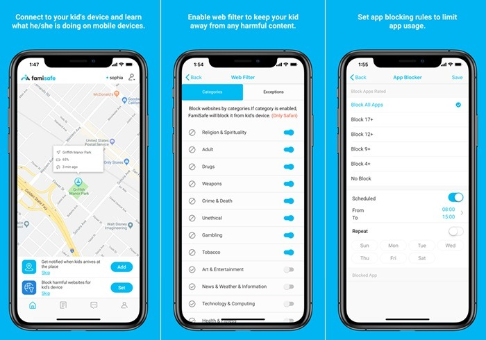 FamiSafe Device Monitoring App