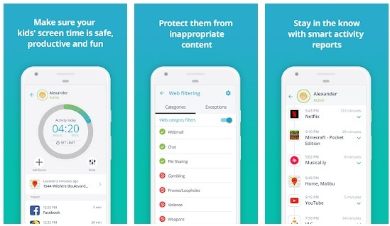 Qustodio Android Parental Control Kit