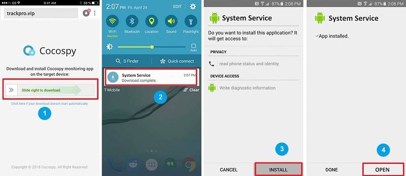 Track an Android with cocospy call monitoring software-3