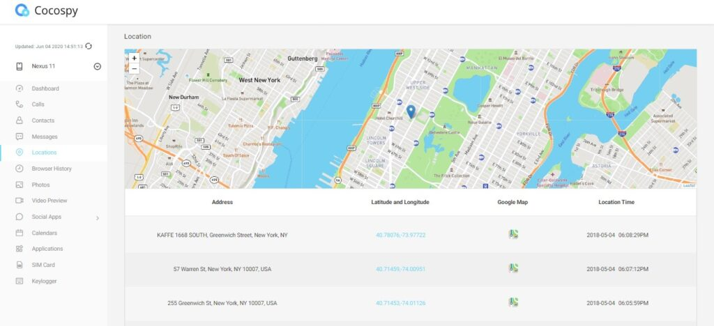 Cocospy gps tracker for android