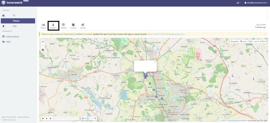 Hoverwatch Phone GPS Tracker App