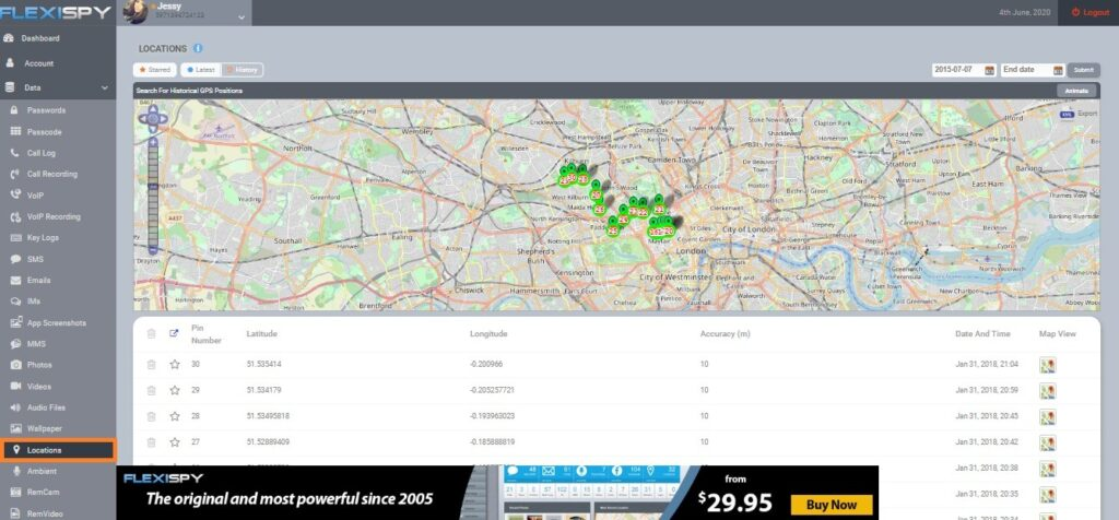 FlexiSPY Phone Tracker App