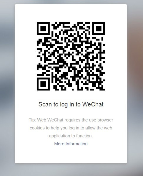 scan QR code of wechat web version