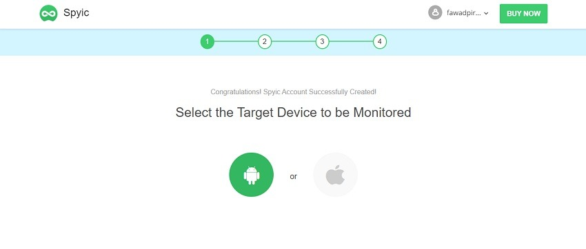 select the type of device you want to monitor