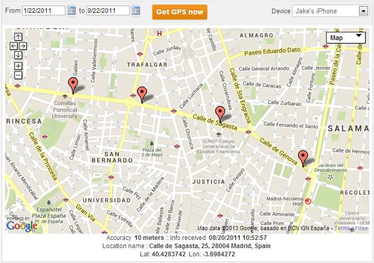 TheTruthSpy - location tracking