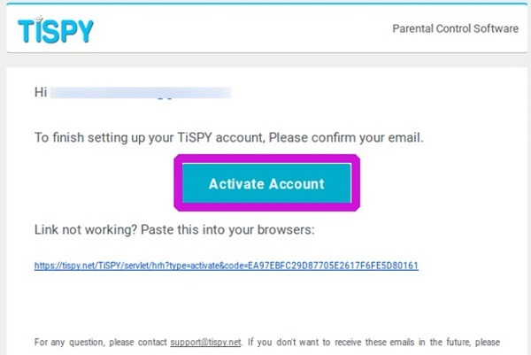Get your TiSPY account